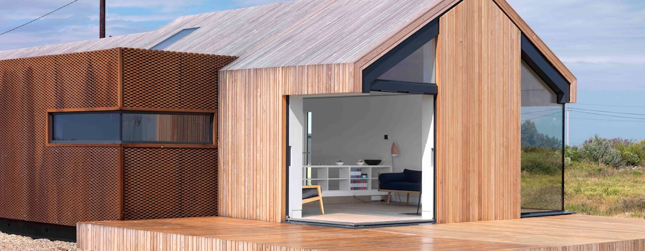 Pobble House Casas modernas de Guy Hollaway Moderno