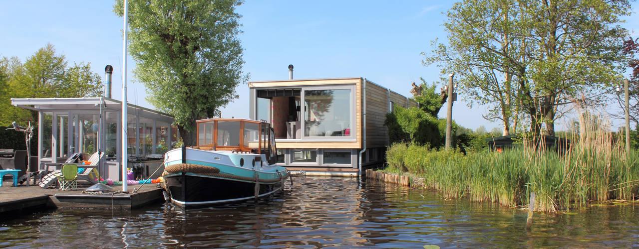 Recreatie Woonboot Moderne huizen van Bob Ronday Architectuur Modern