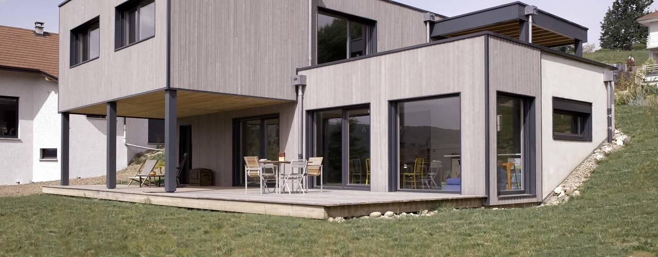 Maison imbriquée Maisons modernes par atelier—ZOU Moderne