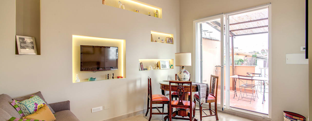 Salas / recibidores de estilo  por MOB ARCHITECTS, Moderno