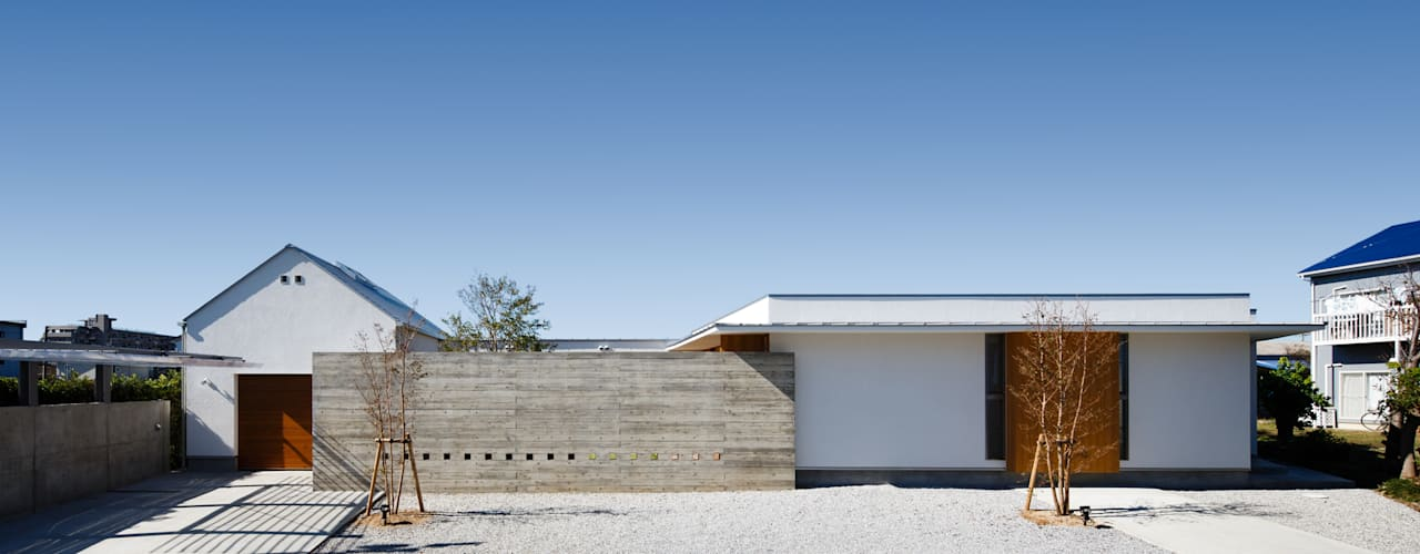 HOUSE IN HAMAMATSU モダンな 家 の 窪江建築設計事務所 モダン