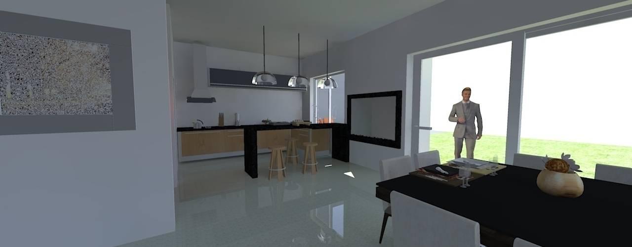 Casas de estilo  por Rodrigo Santos Arquitetura