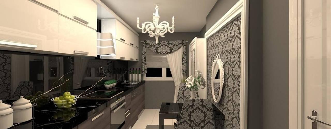 Cuisine minimaliste par erenyan mimarlık proje&tasarım Minimaliste