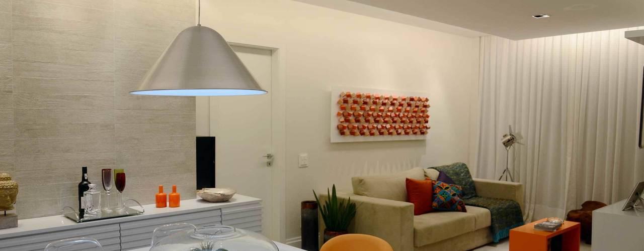 Apartamento Icaraí Salas de estar modernas por fpr Studio Moderno