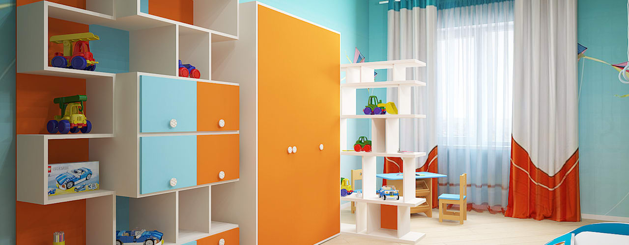 Nursery/kid's room by Мастерская дизайна ЭГО,