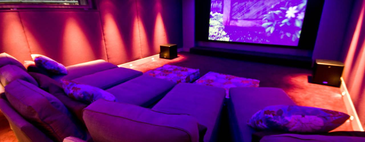 shep&kyles design Modern style media rooms