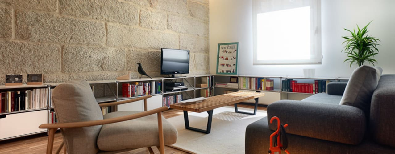 Salas de estar modernas por Castroferro Arquitectos Moderno