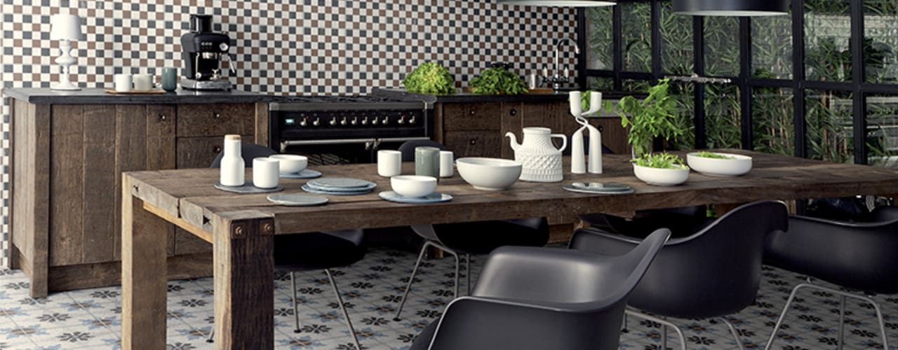 Ceramica Fioranese Cementine Mediterrane keukens van Badkamer & Tegels magazine Mediterraan