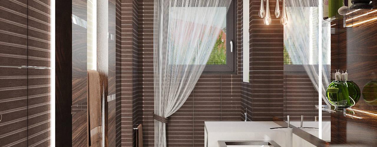 Лаконичный интерьер для маленькой ванной Ванная комната в стиле минимализм от Студия дизайна Interior Design IDEAS Минимализм