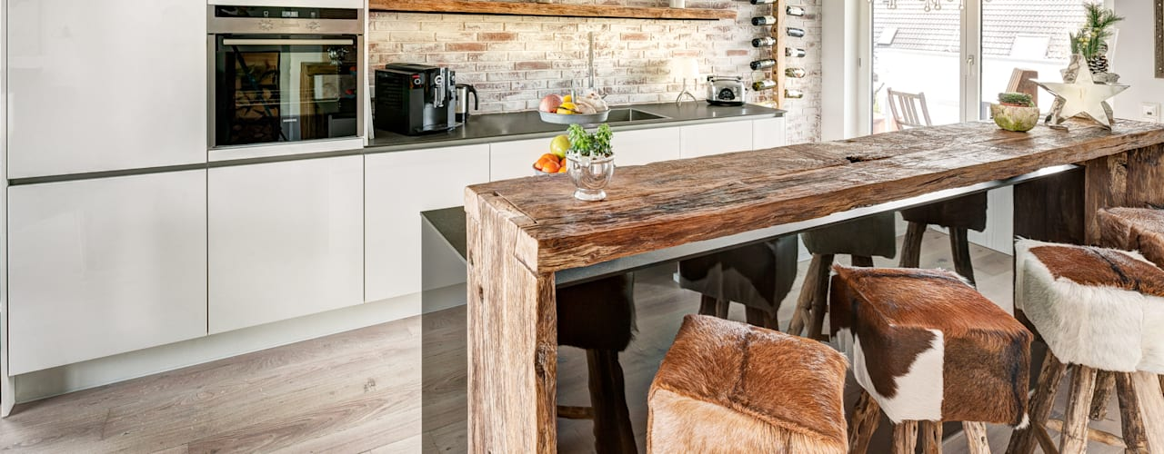 現代廚房設計點子、靈感&圖片 根據 ZABOROWSKI ** Kreativer Innenausbau 現代風