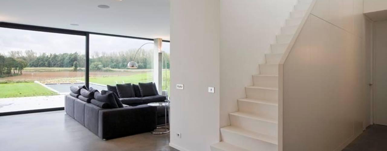 Salas de estar  por hasa architecten bvba, Moderno