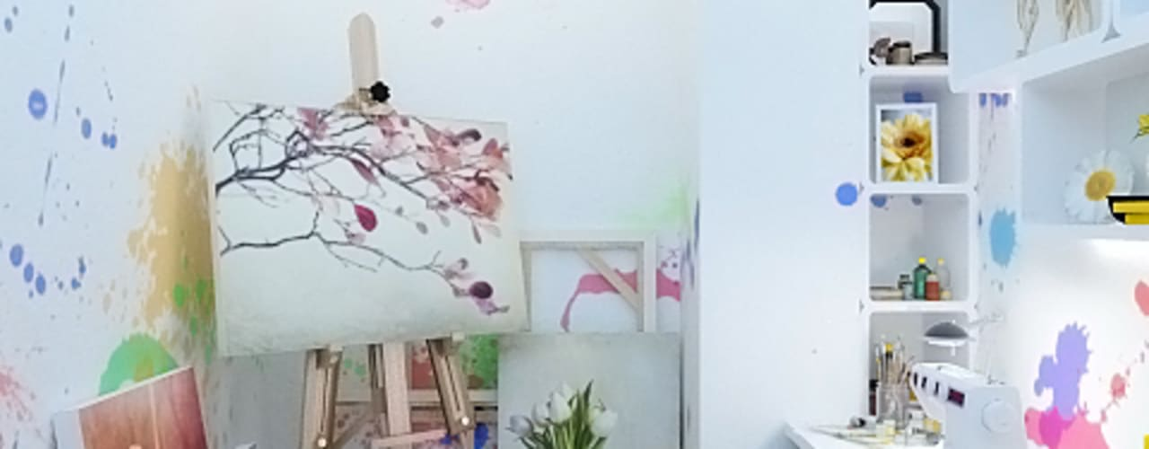 Eclectic style study/office by Дизайн студия Александра Скирды ВЕРСАЛЬПРОЕКТ Eclectic