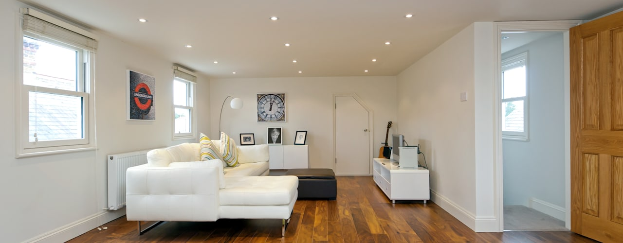 Modern loft transformation Chambre moderne par A1 Lofts and Extensions Moderne