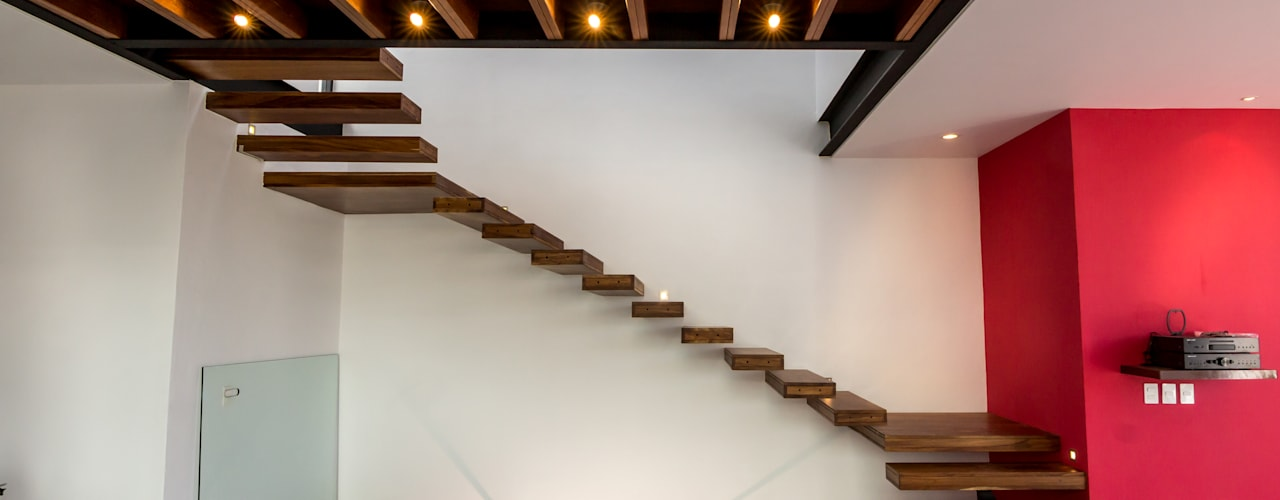 Koridor & Tangga Modern Oleh BANG arquitectura Modern