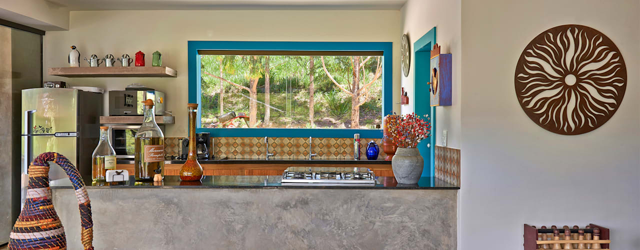 SÍTIO OURO PRETO Cozinhas rústicas por Beth Marquez Interiores Rústico