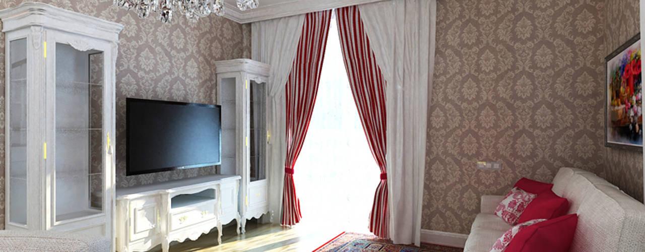 Classic style living room by Дизайн студия Александра Скирды ВЕРСАЛЬПРОЕКТ Classic