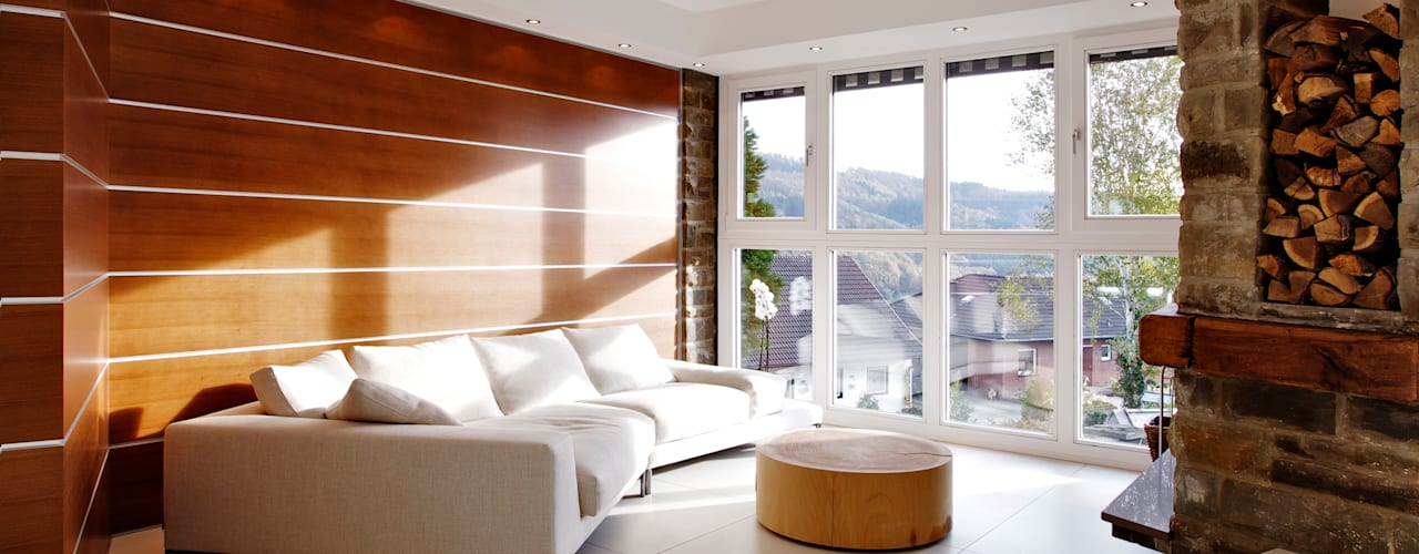 Moderne woonkamers van gmyrekarchitekten Modern