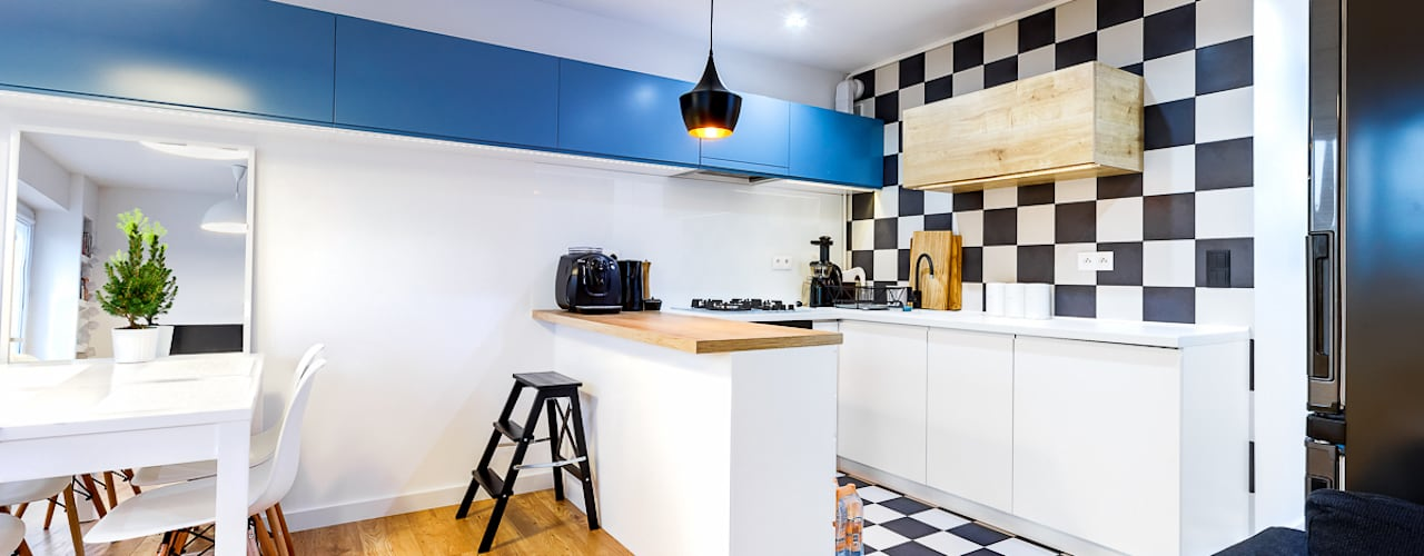 Cocinas de estilo moderno de COCO Pracownia projektowania wnętrz Moderno