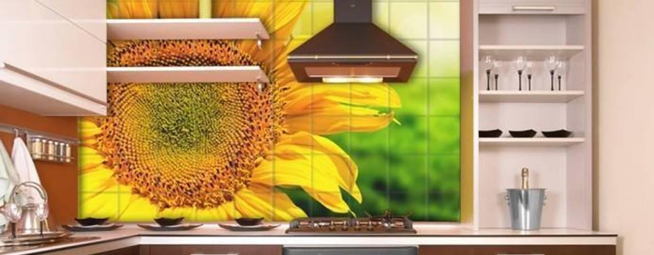 Cocinas de estilo  por Tile Fire Ltd., Ecléctico