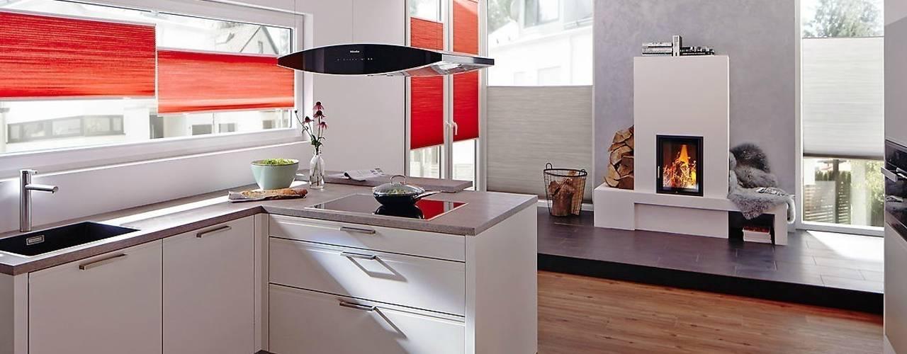 10 rollos und vorh nge f r deine k che. Black Bedroom Furniture Sets. Home Design Ideas