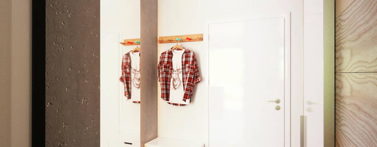 Corredores, halls e escadas minimalistas por IK-architects Minimalista