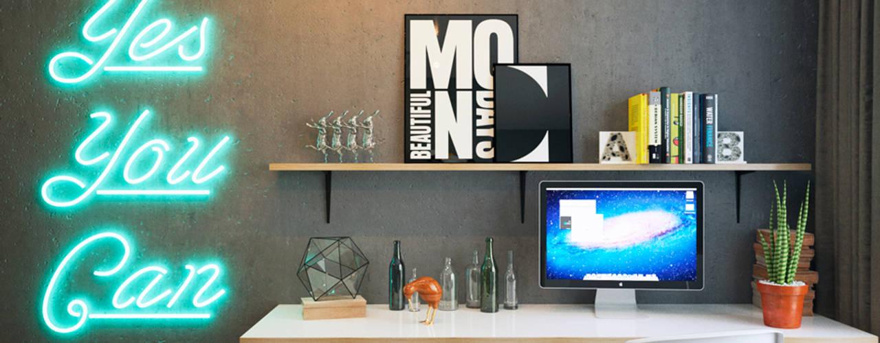 minimalistic Study/office by IK-architects