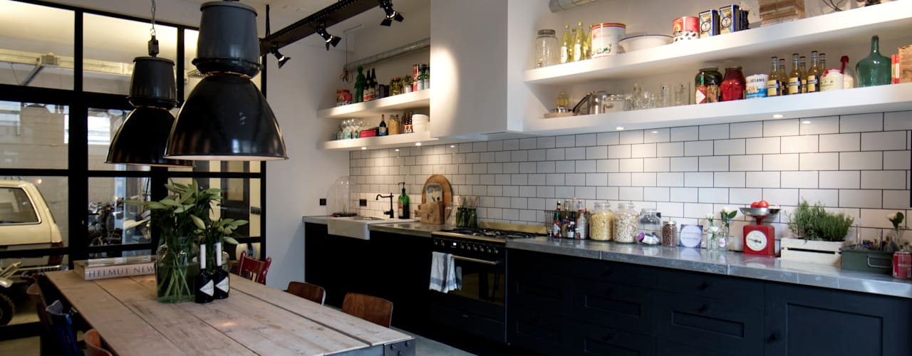 Industrial style kitchen by BRICKS Studio Industrial