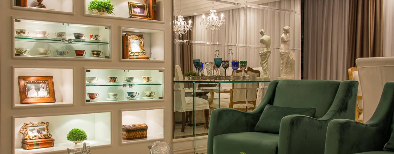 Salas / recibidores de estilo  por marli lima designer de interiores