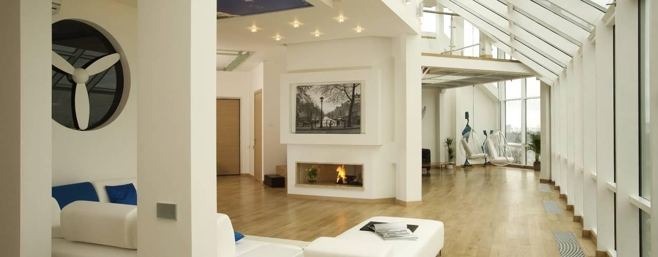 Salon minimaliste par Архитектурное бюро 'Sky-lines' Minimaliste