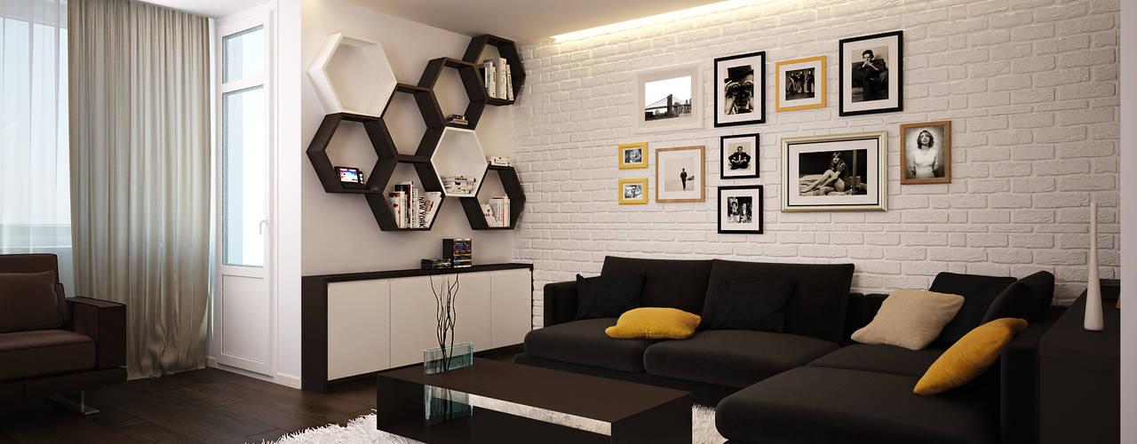 Salon minimaliste par Polovets design studio Minimaliste