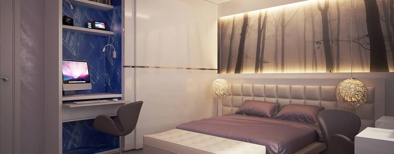 Projekty,  Sypialnia zaprojektowane przez Polovets design studio