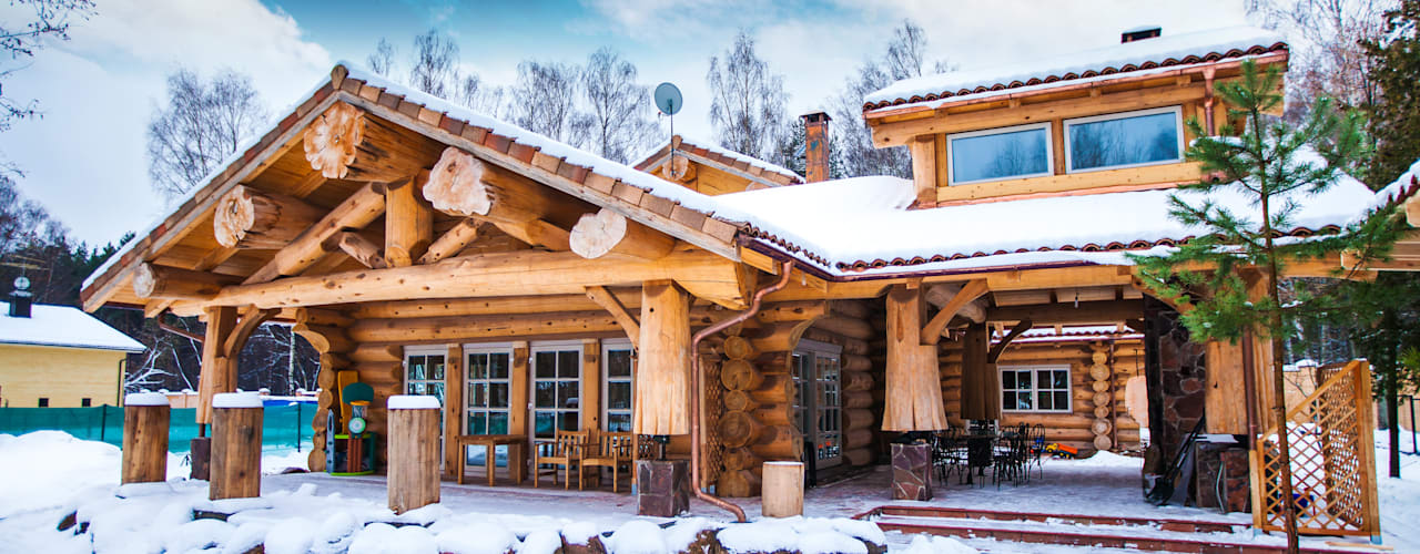 Rustic style houses by Роял Вуд Rustic