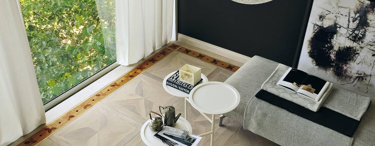 Parquet In Paredes y pisos de estilo moderno de Timberplan Moderno