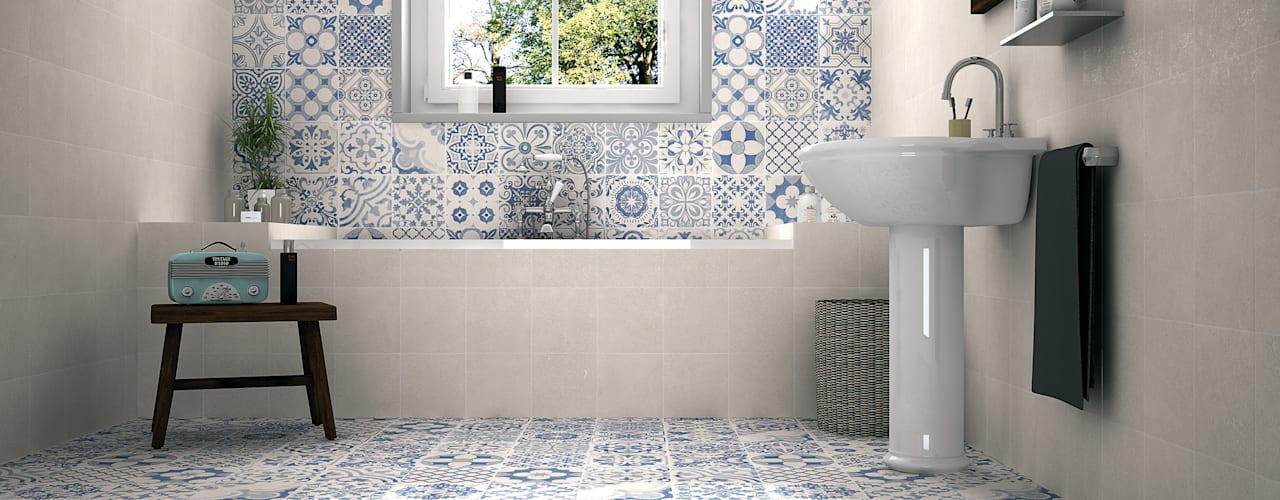 Elle Country style bathroom by The Baked Tile Company Country