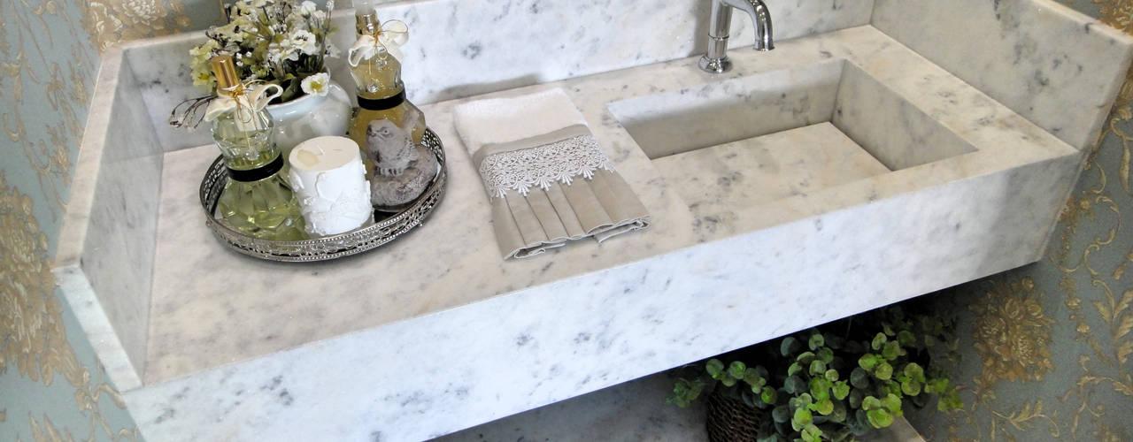 浴室 by Gabriela Herde Arquitetura & Design