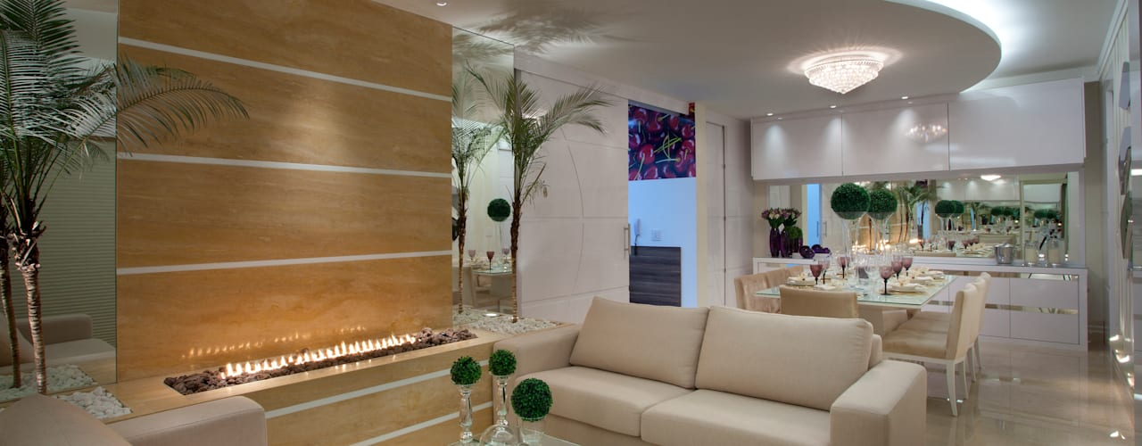 Salas / recibidores de estilo  por Designer de Interiores e Paisagista Iara Kílaris,