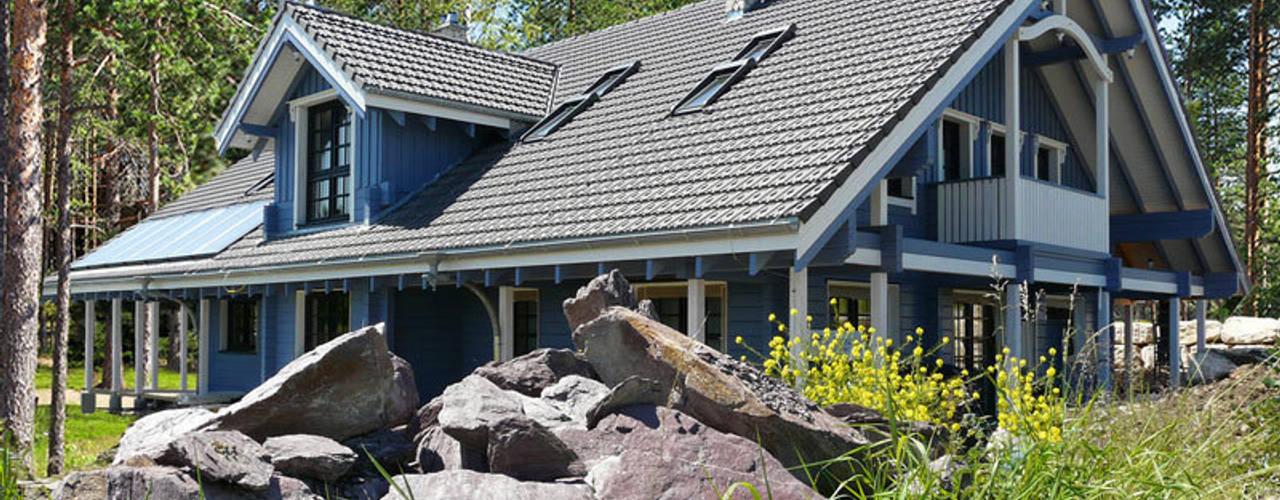 Eclectische huizen van Finnscania Blockhausfabrik Eclectisch