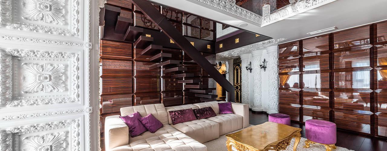 Интерьер квартиры в стиле Эклектики: Гостиная в . Автор – Belimov-Gushchin Andrey