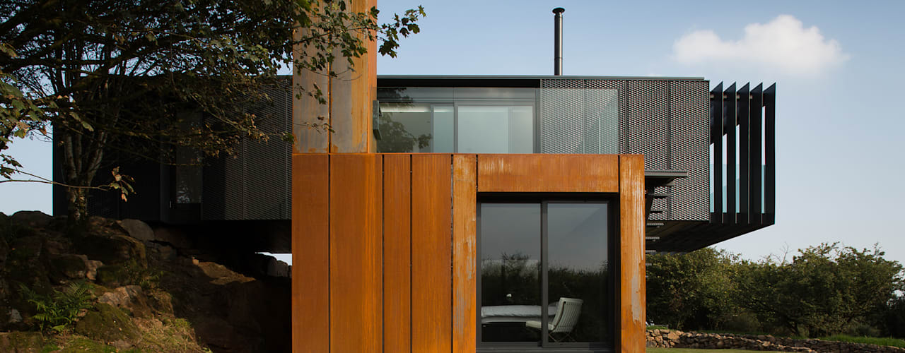 Grillagh Water Casas modernas por Patrick Bradley Architects Moderno
