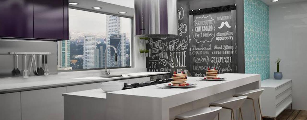 Cocinas Modernas: Cocinas de estilo  por Citlali Villarreal Interiorismo & Diseño