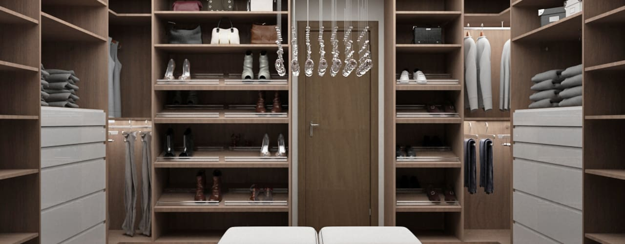 Vestidores y placares modernos de Citlali Villarreal Interiorismo & Diseño Moderno