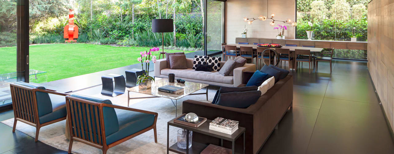 Salas de estar minimalistas por grupoarquitectura Minimalista
