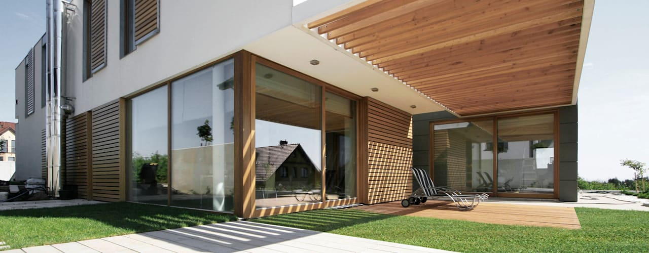 PRACOWNIA 111 Minimalistischer Balkon, Veranda & Terrasse