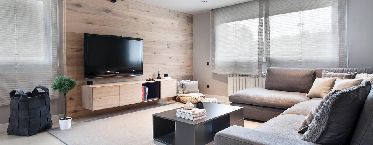 Proyecto Terrassa: Salones de estilo escandinavo de Dröm Living