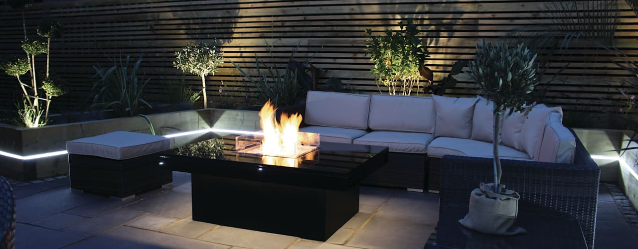 Madrid Gas Fire Table - Warrington de Rivelin Moderno