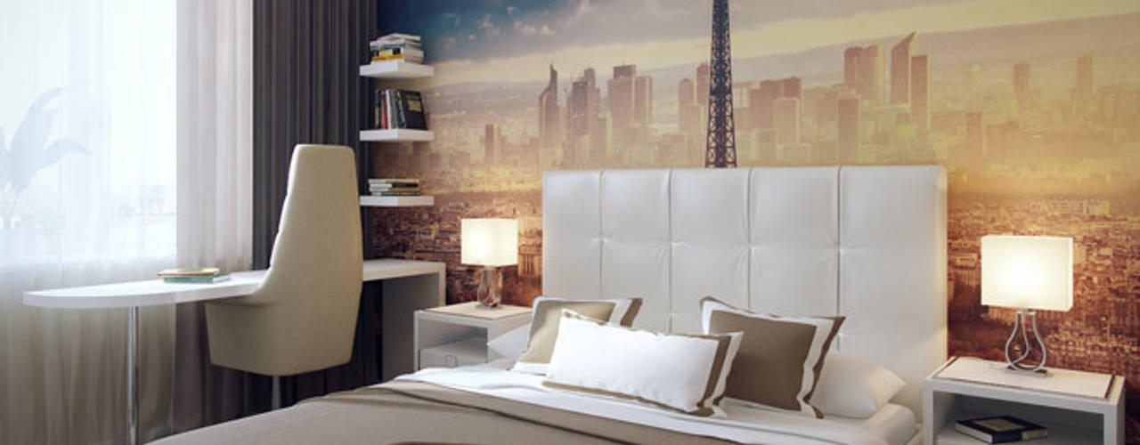 Dormitorios de estilo ecléctico de Студия дизайна интерьера Маши Марченко Ecléctico