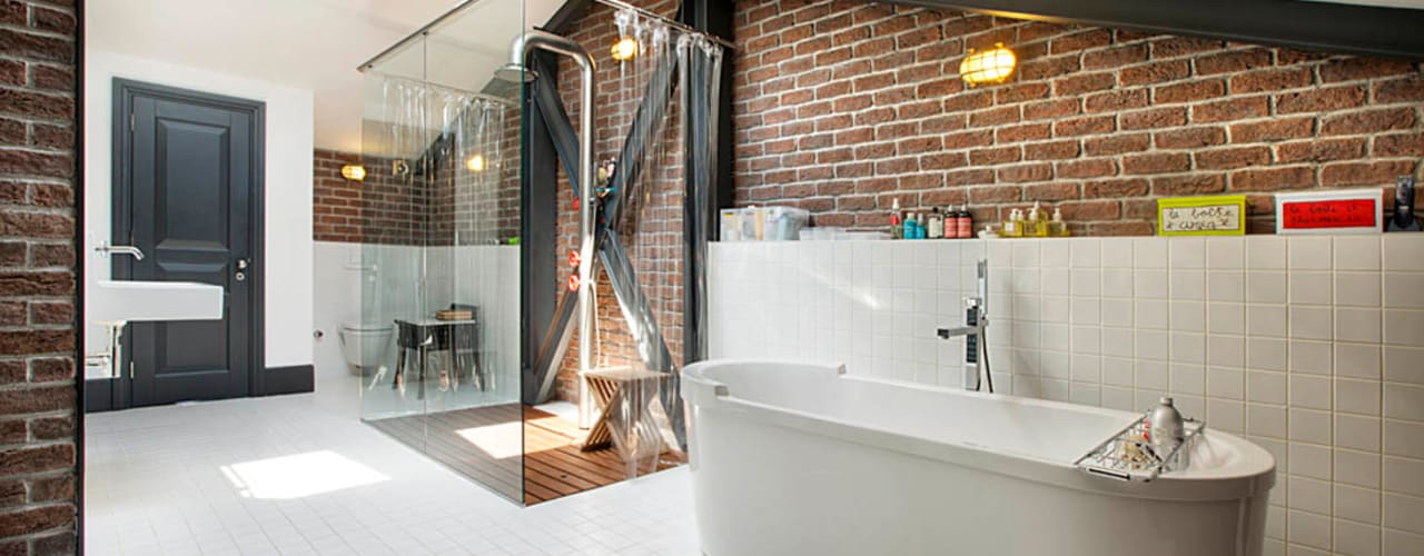 industrial Bathroom by Udesign Architecture