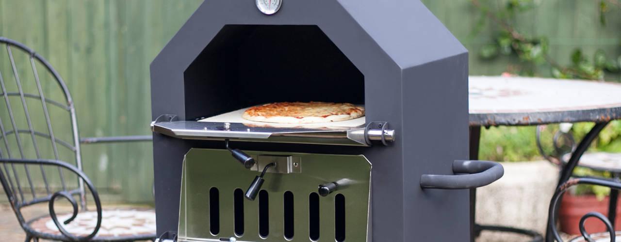 Multi-function wood fired outdoor ovens La Hacienda СадВогонь ями і барбекю