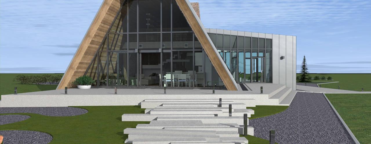 Projekty, minimalistyczne Domy zaprojektowane przez CHM architect