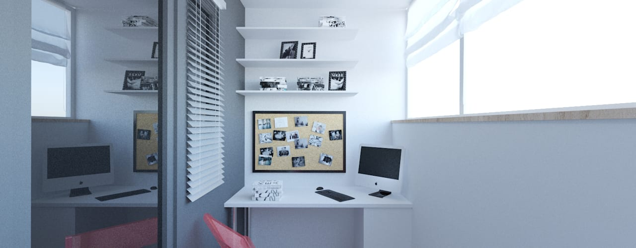Скандинавия: визуализация современной квартиры : Tерраса в . Автор – OK Interior Design